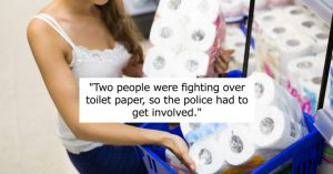 woman with toilet paper.Toilet Paper Incident between Mother and Son has some lessons